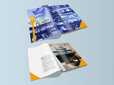 Eating Close to Home Magazine Mockup magazine layout magazine layout typography design
