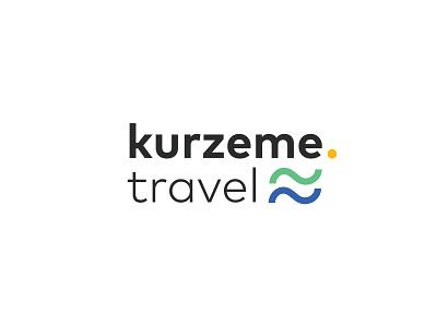 kurzeme travel logo logo design logodesign blue yellow forest sea wave kurzeme latvia logo