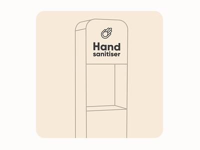 Handbox illustrator custamize 2021 pandemic sanitasor motiongraphics loop logo animation handbox