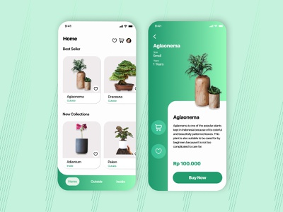 Plant Store - Mobile App graphic design website branding app typography ux ui design