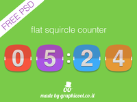 #dailyui #014 Freebie - The Flat Squircle Count Down