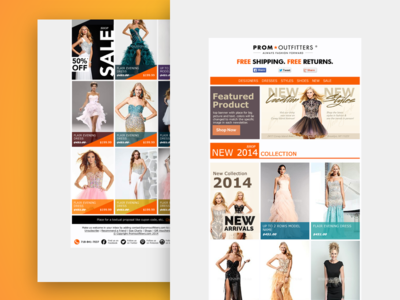 Email Design - Prom Outfitters web design newsletter email