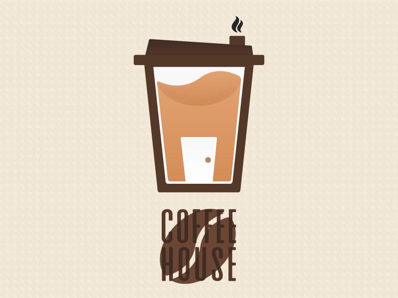 Coffee House house coffeebean coffee logo coffee logo