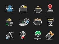 Crypto Mining app Icons
