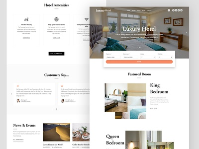 LuxuryHotel WordPress Theme parallax design minimal clean animation gsap gallery booking premium ux ui wordpress luxury hotel