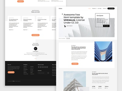 Alpha Free HTML5 Bootstrap 4 Template design ux ui bootstrap4 html web html5