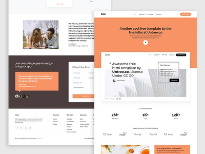 Bold Free HTML5 Bootstrap 4 Template free website webdesign ux ui bootstrap4 html web