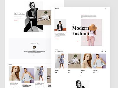 Fashion Free HTML5 Web Template style fashion uiux html freebie website free template bootstrap bootstrap 4