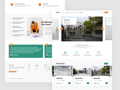 Homey Free HTML5 home css3 html5 uiux property listing realestate webdesign bootstrap4 html