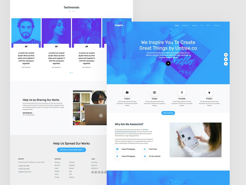 Inspire Free HTML by Untree.co template web webdesign design uiux bootstrap4 bs4 free html