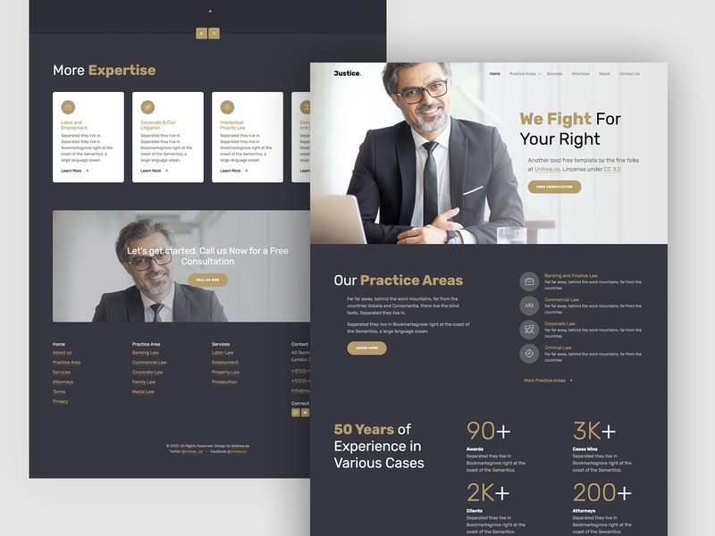 Justice Free HTML Template by Untree.co website webdesign slider video justice lawfirm law design uiux bs4 freebie template html free