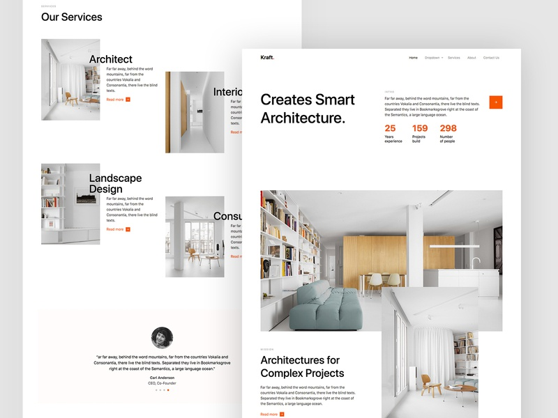 Kraft Free HTML CSS Template by Untree.co design html ux ui bs4 bootstrap4 webdesign website web architect free freebie
