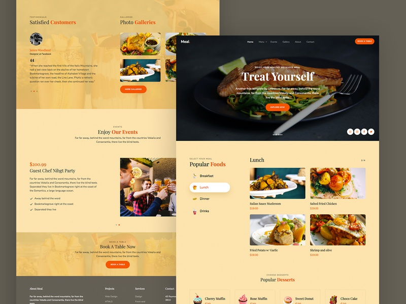 Meal Free HTML5 Template by Untree.co webpage webdesign website ux ui html freebie free bootstrap4 css onepage