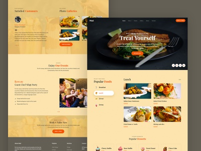 Meal Free HTML5 Template webpage webdesign website ux ui html freebie free bootstrap4 css onepage