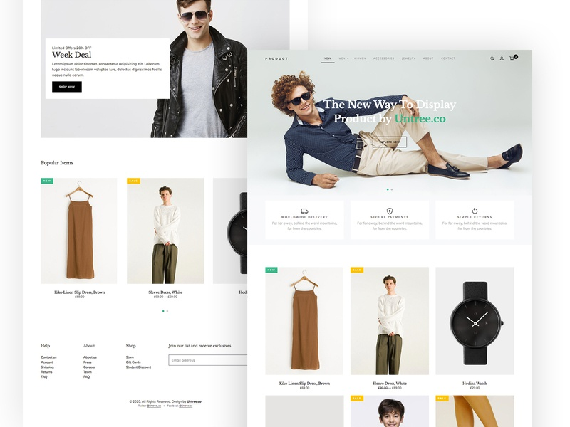 Product Free HTML for eCommerce by Untree.co ecommerce webdesign website design ux ui bootstrap onepage html free