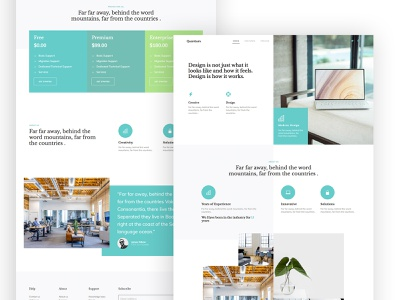 Quantum FREE HTML CSS Template template latest css ux ui design webdesign website free html onepage