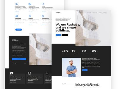 Reshape Free HTML CSS Template webdesign onepage free template website free ux design ui