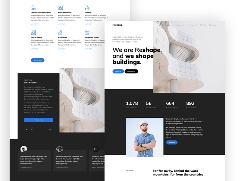 Reshape Free HTML CSS Template by Untree.co webdesign onepage free template website free ux design ui