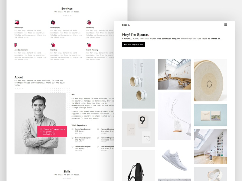 Space Free HTML Template by Untree.co template free website webdesign html bootstrap gsap css onepage
