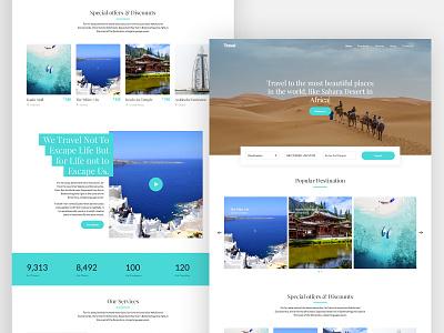 Travel Free HTML Template html onepage free freebie branding free html website free template bootstrap 4 design ux ui