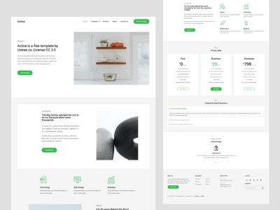 Active Free Bootstrap Template free html freebie free template design ux ui frontend website webdesign bootstrap template html