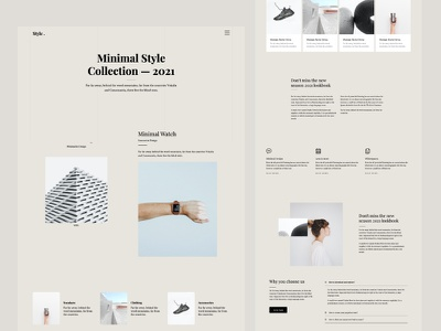 Style - A Free Minimal Bootstrap Website Template onepage ux ui template website bootstrap html free