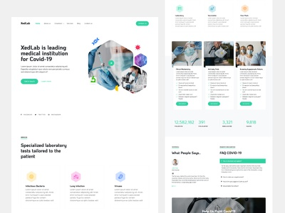 XedLab - Medical Website Template Free Download free template freetemplate onepage website free frontend html bootstrap ux ui