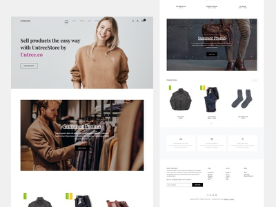 UntreeStore - Ecommerce Free Download Template by Untree.co design free template webdesign website onepage free freebie frontend html bootstrap ux ui