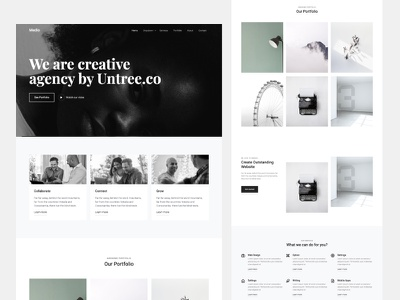 Medio - Web Design Agency Template Free Download by Untree.co freedownload freebie untree.co frontend bootstrap free template onepage bootstrap5 html ux ui