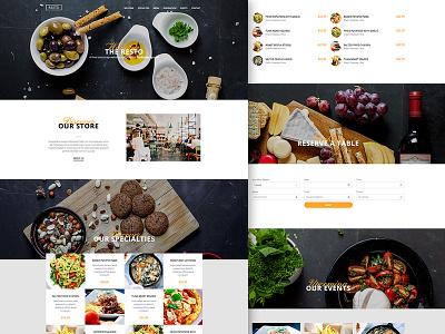 ProBootstrap:Resto Free Restaurant Bootstrap Template (HTML) template website restaurant bootstrap culinary onepage design modern ux ui