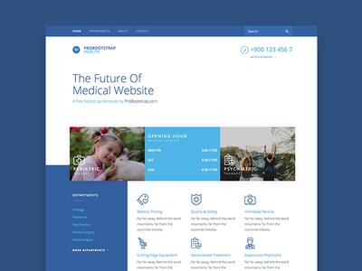 Probootstrap Health (Free HTML)