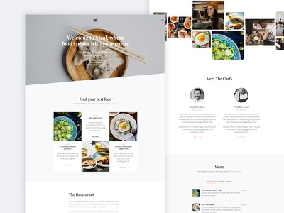 Meal Free Website Template by Free-Template.co onepage bootstrap ux ui template website html free
