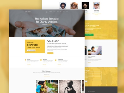 Charity Free Website Template by Free-Template.co by Joefrey Mahusay ...