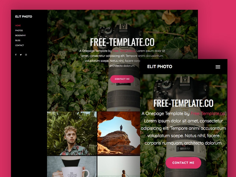Elit Onepage Free HTML5 Template by Free-Template.co onepage html freebie design bootstrap 4 bs4 free bootstrap