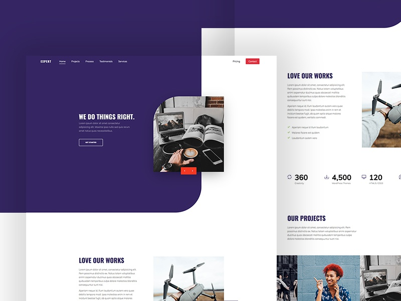 Expert One Page Free Website Template by Free-Template.co free templates free template template website design ui