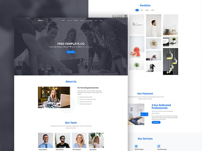 Nitro One Page Free Website Template by Free-Template.co