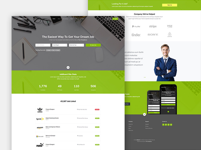 New Jobboard Free Website Template by Free-Template.co free html design bootstrap free template bootstrap 4 ux ui