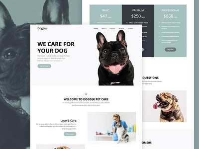 Dogger Free HTML Website Templates by Free-Template.co website html free template pets dogs freebie bootstrap 4 bootstrap ux ui