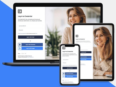 Credential Login / Sign Up Form by Free-Template.co free web elements web free template html bootstrap 4 ux ui