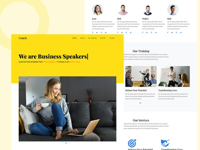Coach Free Template by Free-Template.co download html ui design design bootstrap 4 free speaker motivational coaching coach ui