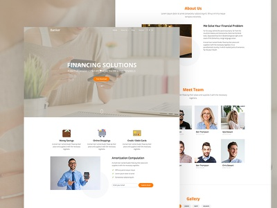 Banker Free Website Template by Free-Template.co html freebie ux ui free bootstrap free template free html