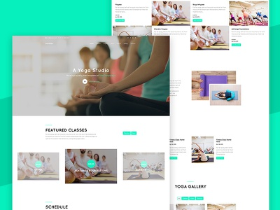DoYoga Free Website Template by Free-Template.co bootstrap 4 free html ui  ux ui free template yoga