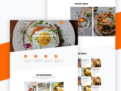 Foody Free Website Template for Restaurants by Free-Template.co html free template freebie design bootstrap 4 ux ui