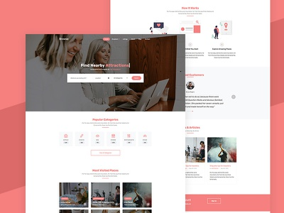 Browse Free Website Template for Directory Listing directory listing design bootstrap 4 html free template ux ui