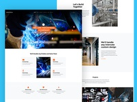 Industrial Free Website Template for Industrial Websites