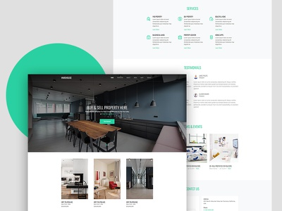 Warehouse Free Website Template for Real Estate free html real estate html freebie free template bootstrap 4 ux ui