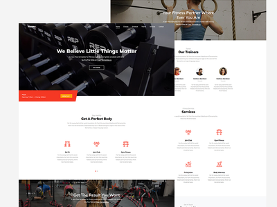 Stamina Free HTML Template for Fitness Webiste