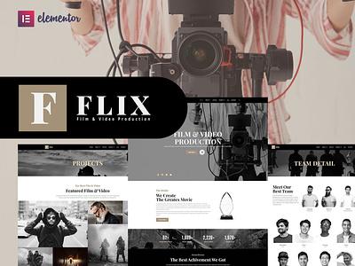 Film Production Elementor Template Kit app wordpress logo 3d template graphic design ux ui illustration design branding