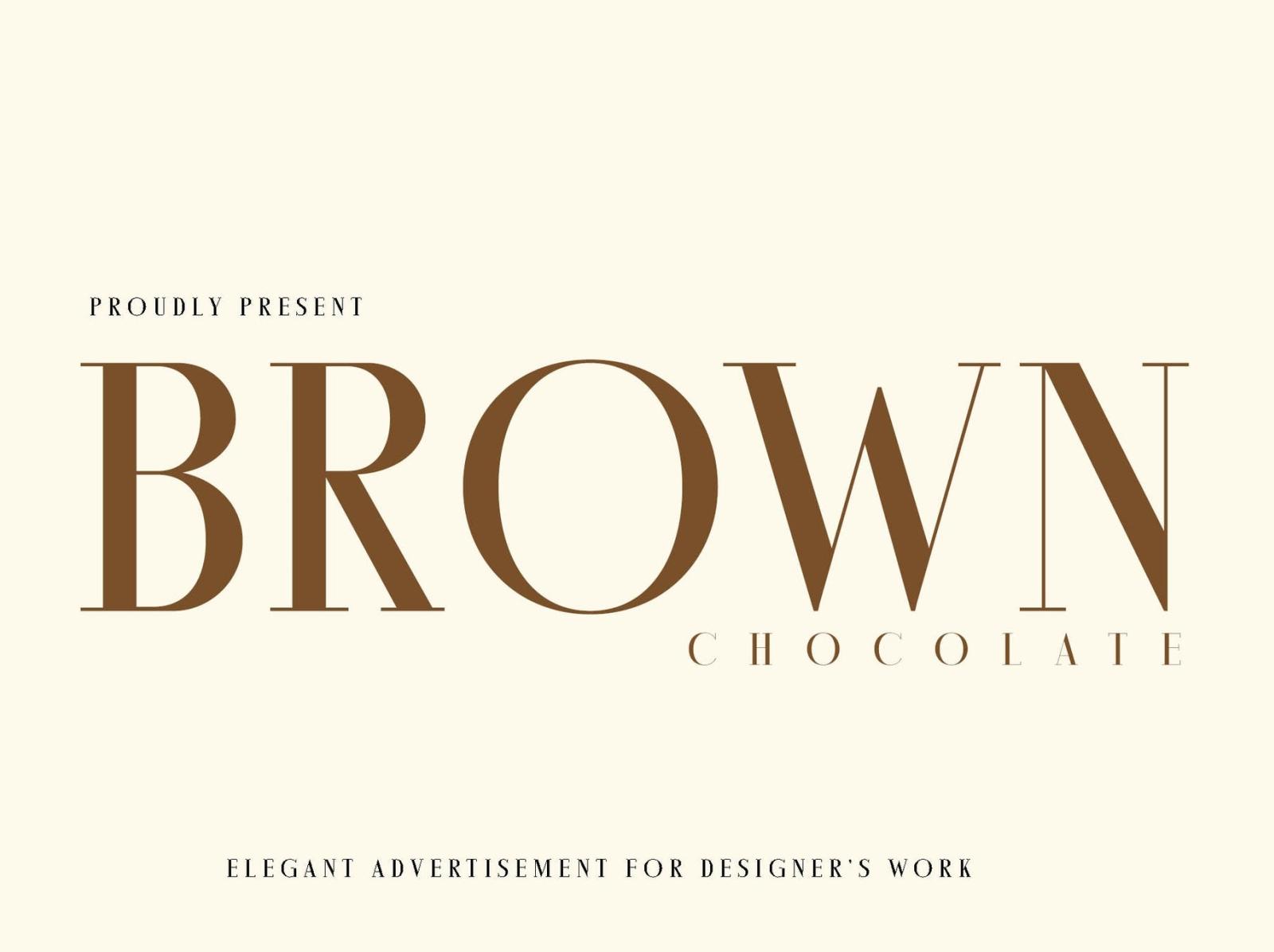 Brown Chocolatte Font magazine minimal modern advertisement font advertisement brown chocolate font ux vector ui app typography logo graphic design illustration design branding