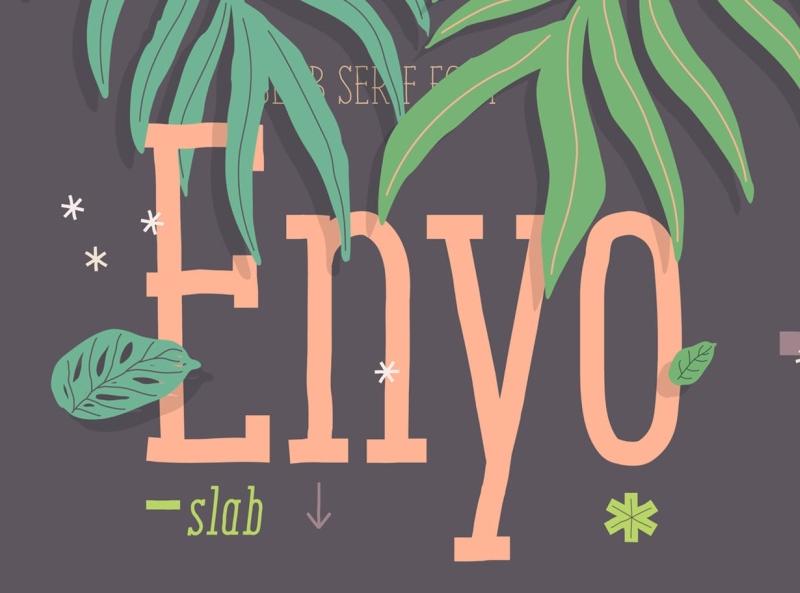 Enyo Slab Font stationery monoline handwritten display font display font ux ui vector app logo typography graphic design illustration design branding